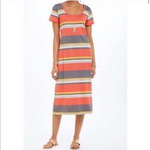 Anthropologie Saturday Sunday Striped Midi Dress